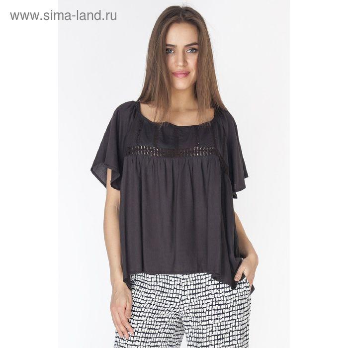 Блузка женская L3214 С+ цвет чёрный, размер  XL(50)