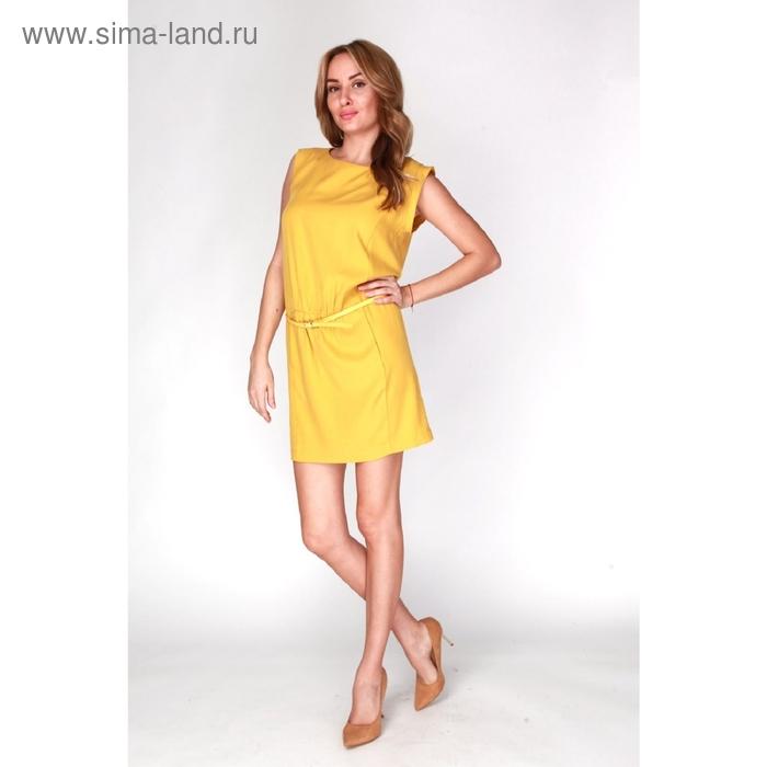 Платье женское D15-539 цвет жёлтый, размер  XL(50)