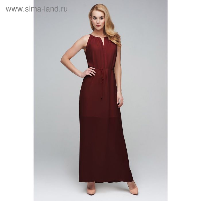Платье женское D15-517 цвет шоколад, размер  S(44)