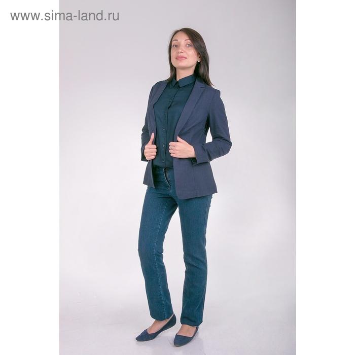 Жакет женский J3135 цвет темно-синий, размер  XL(50)