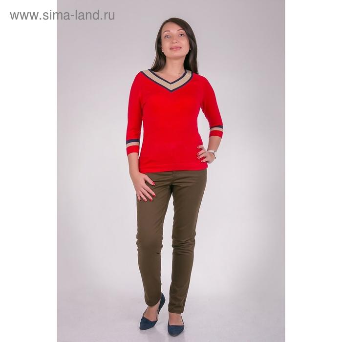 Джемпер женский VIS-0009V С+, цвет красный, размер  XL(50)