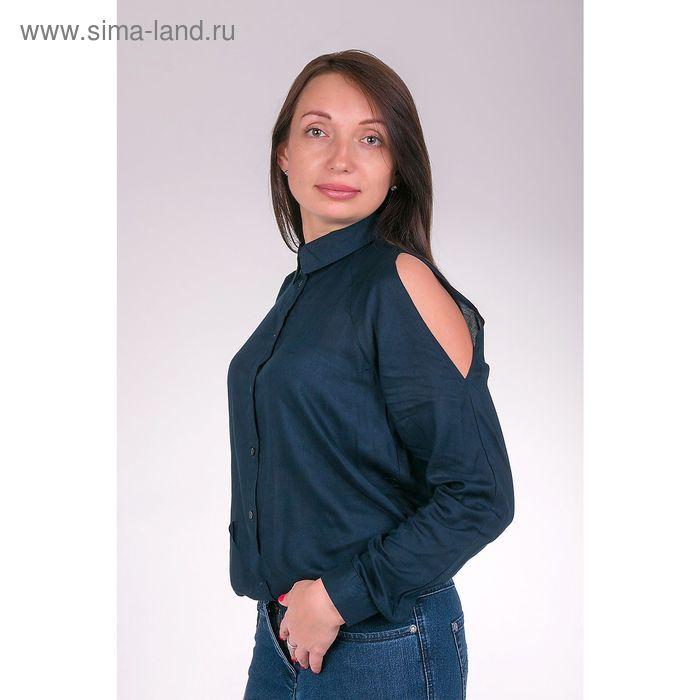 Блузка женская L3161 цвет темно-синий, размер  XL(50)
