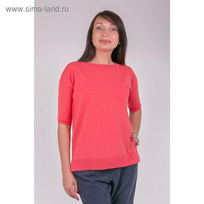 Джемпер женский VIS-0007V цвет оранжевый, размер  XL(50)