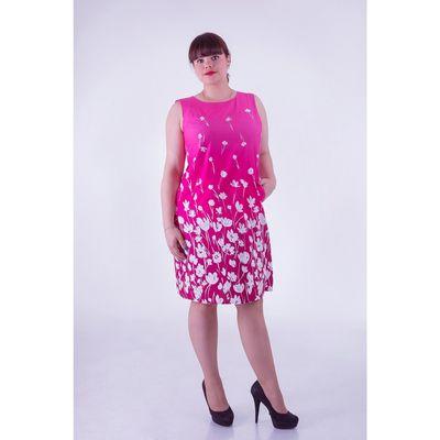 Платье женское D3045 цвет фуксия, размер  XL(50)