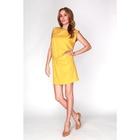 Платье женское D15-539 цвет жёлтый, размер  L(48)