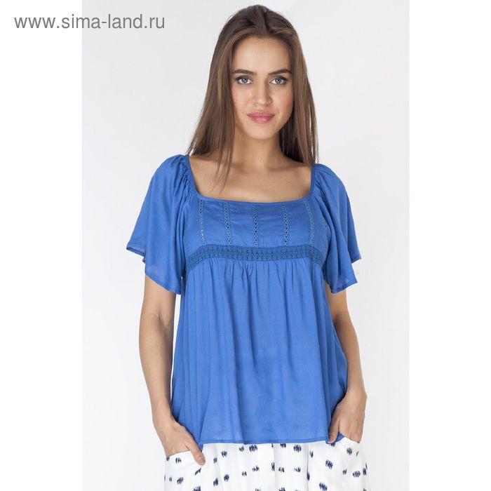 Блузка женская, цвет голубой, размер XXL (52) (арт. L3214 С+)