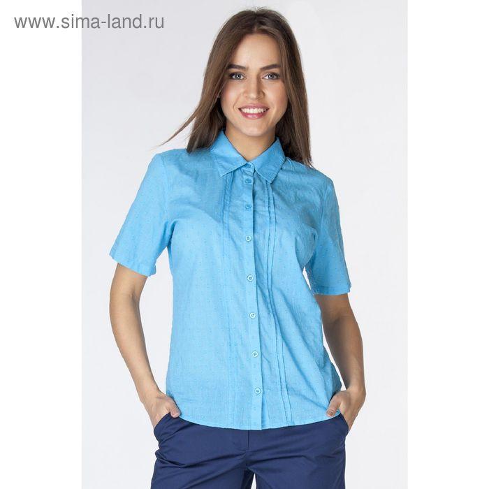 Блузка женская L3189 С+ цвет голубой, размер  XL(50)