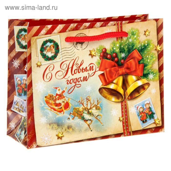 Пакет ламинат горизонтальный «Винтажная почта», S 11 х 14 х 5,5 см