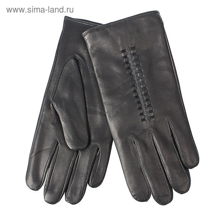 Перчатки мужские, модель №459, материал - овчина, подклад - чистошерстяной, р-р 23, чёрные