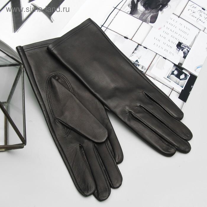 Перчатки женские, модель №418, материал - овчина, без подклада, р-р 19, чёрные
