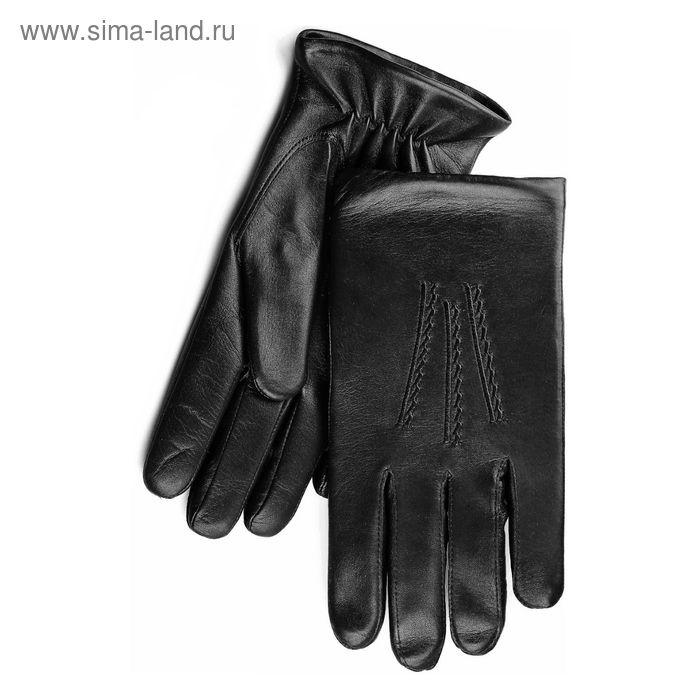 Перчатки мужские, модель №128, материал - овчина, подклад - полушерстяной, р-р 25, чёрные