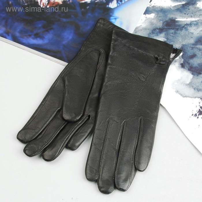 Перчатки женские, модель №202, материал - овчина, подклад - полушерстяной, р-р 17, чёрные