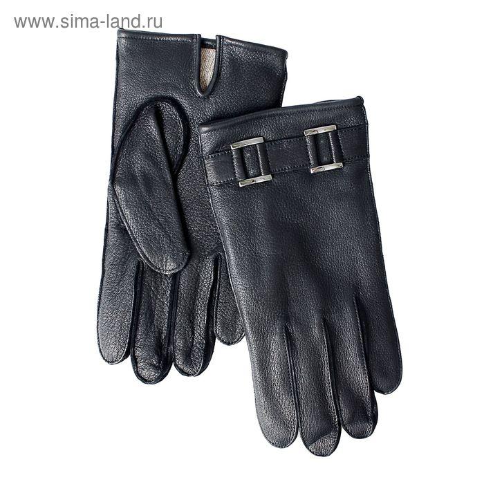 Перчатки мужские, модель №430, материал - олень, подклад - чистошерстяной, р-р 24, чёрные