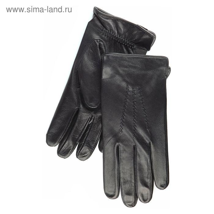Перчатки мужские, модель №52, материал - козлина, без подклада, р-р 23, чёрные