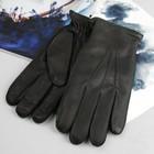 Перчатки мужские, модель №114, материал - олень, подклад - полушерстяной, р-р 20, чёрные