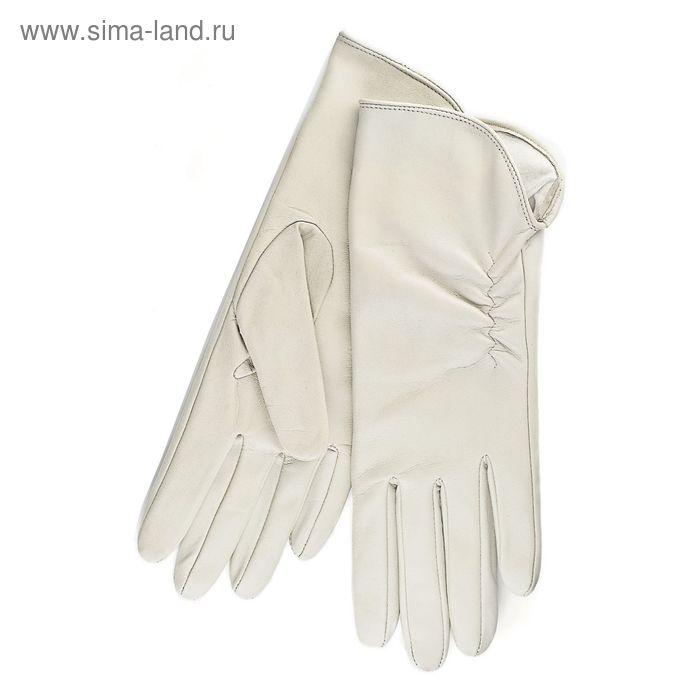 Перчатки женские, модель №119р, материал - овчина, подклад - трикотаж, р-р 17, цвет молочный