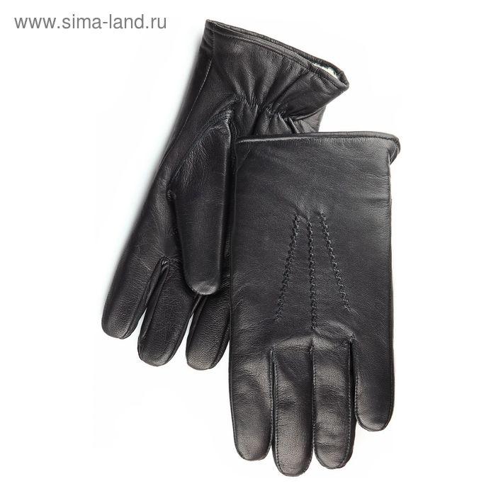 Перчатки мужские, модель №234, материал - козлина, подклад - натуральный мех, р-р 23, чёрные