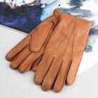 Перчатки мужские, модель №114, материал - олень, подклад - полушерстяной, р-р 23, коричневые