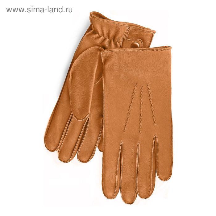Перчатки мужские, модель №114, материал - олень, подклад - полушерстяной, р-р 24, коричневые