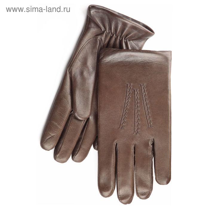Перчатки мужские, модель №128р, материал - овчина, подклад - полушерстяной, р-р 25, коричневые