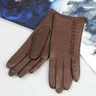 Перчатки женские, модель №420р, материал - овчина, без подклада, р-р 17, коричневые