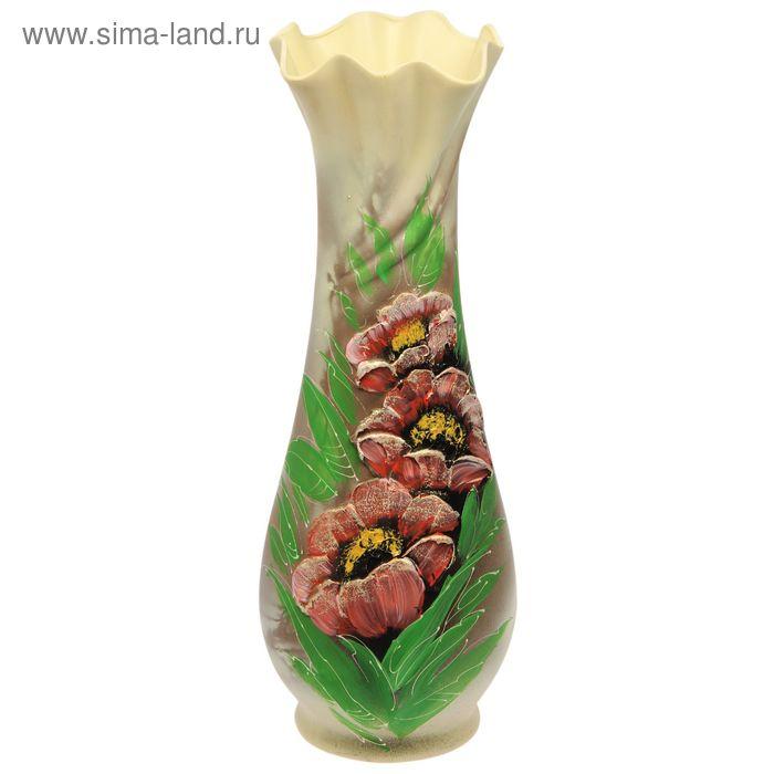 """Ваза напольная """"Вьюнок"""" акрил, цветы"""