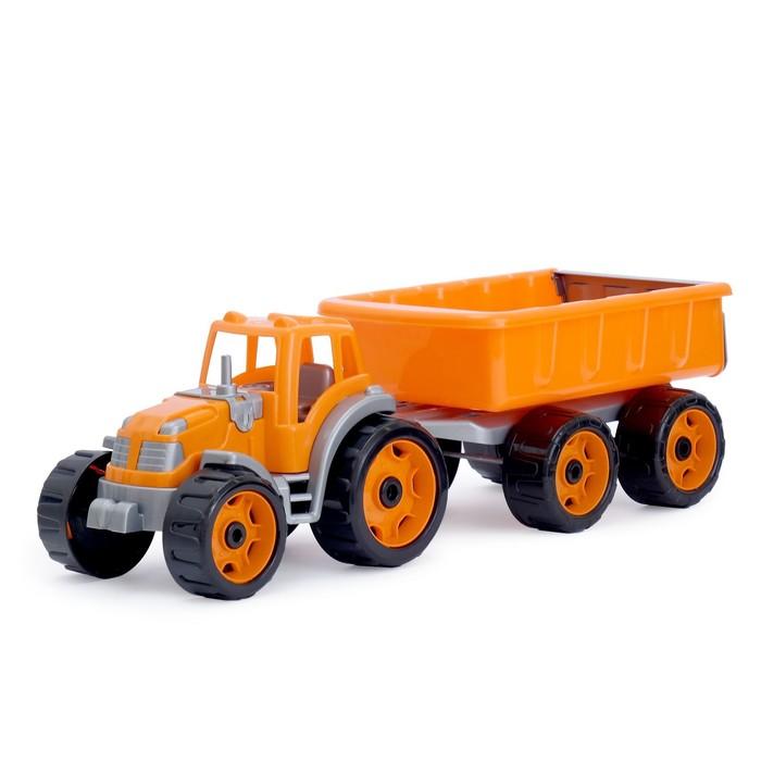Игрушка «Трактор c прицепом», цвета МИКС - фото 1649531