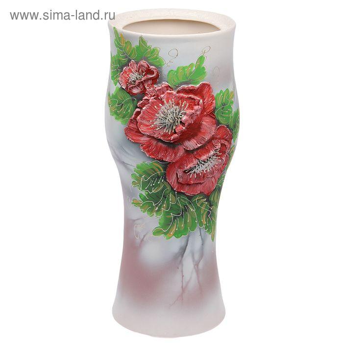 """Ваза напольная """"Тюльпан"""" акрил, маки"""