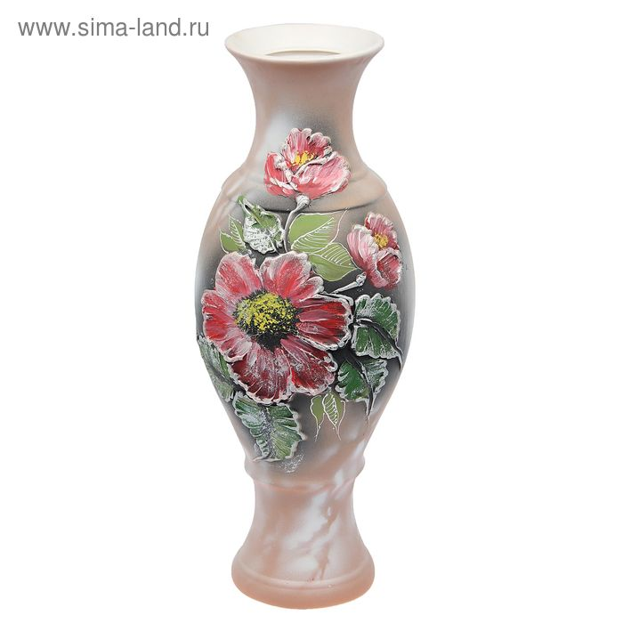 """Ваза напольная """"Юлия"""" акрил, цветы"""