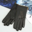 Перчатки женские, модель №102у, материал - козлина, подклад - полушерстяной, р-р 17, чёрные