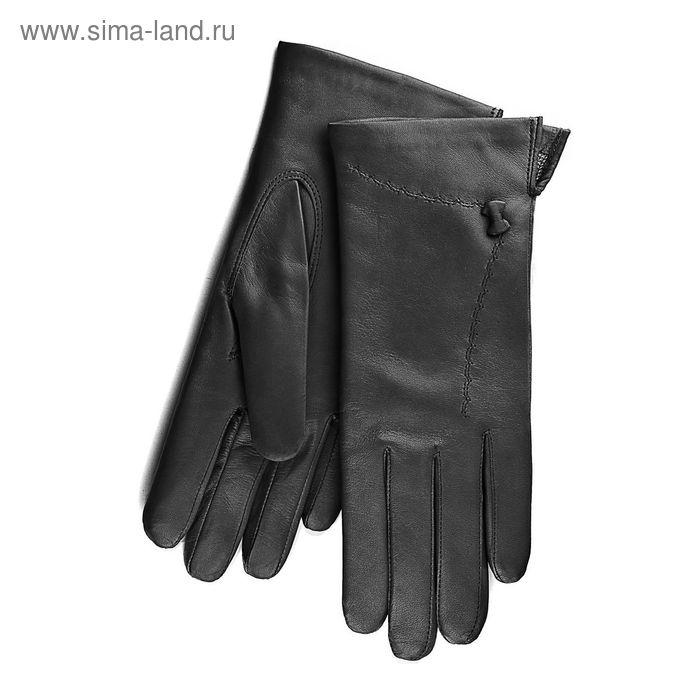 Перчатки женские, модель №202, материал - овчина, подклад - полушерстяной, р-р 18, чёрные