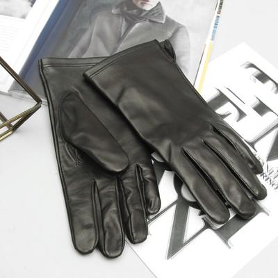 Перчатки мужские, материал - овчина, без подклада, р-р 23, цвет чёрный