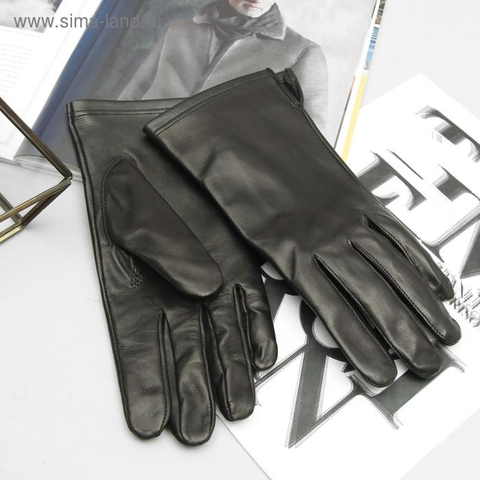 Перчатки мужские, модель №359, материал - овчина, без подклада, р-р 23, чёрные