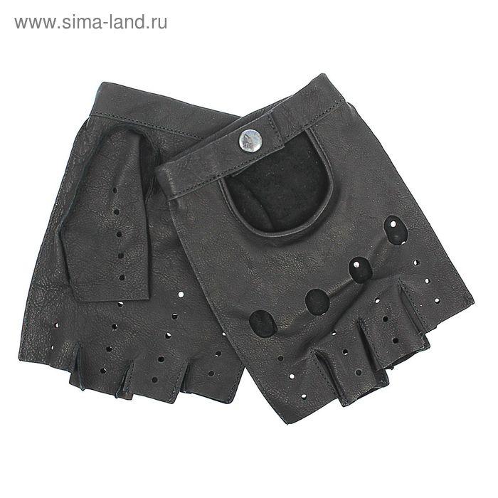 Перчатки мужские, модель №680у, материал - кожа крупного рогатого скота, без подклада, р-р 20, чёрные