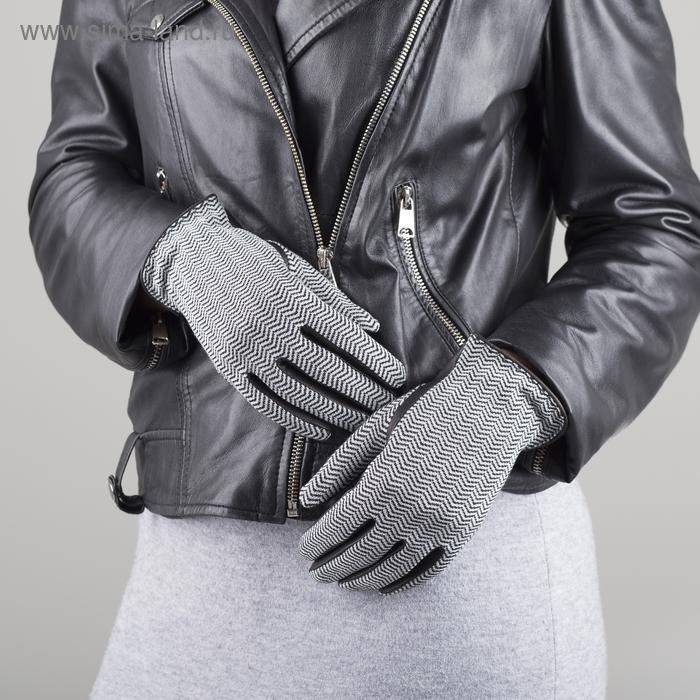 Перчатки женские, модель №51-х, материал - козлина/трикотаж, без подклада, р-р 16, чёрные