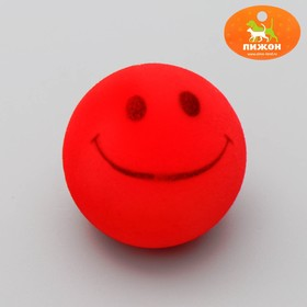 """Velvet toy with Squeaker """"Smile"""", mix colors"""