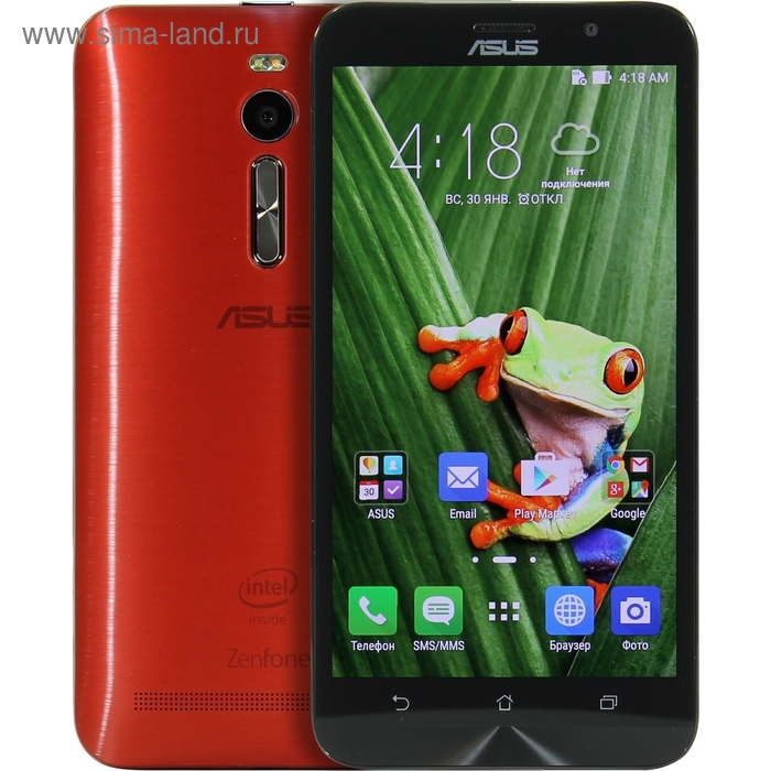 Смартфон Asus Zenfone 2 ZE551ML, 32 Gb, красный