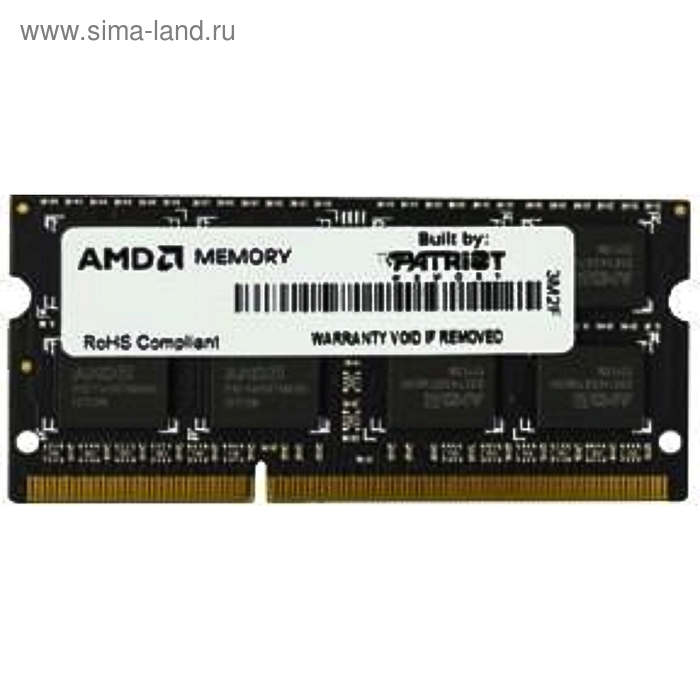 Память DDR3 2Gb 1600MHz AMD R532G1601S1S-UO OEM PC3-12800 CL11