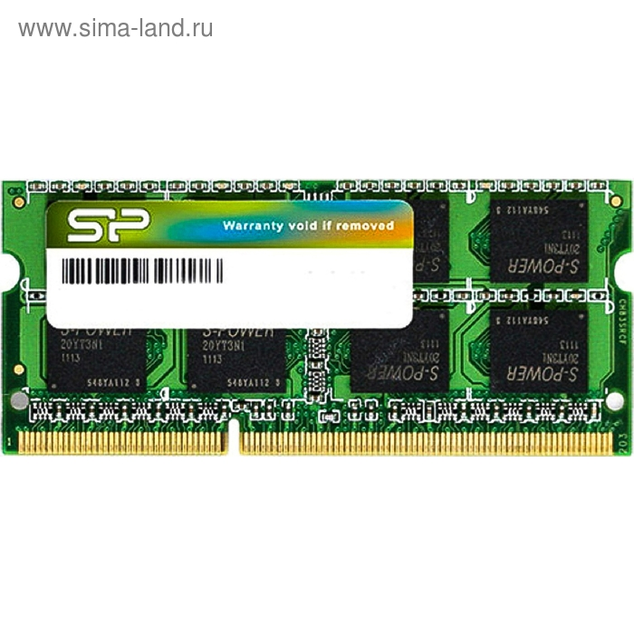 Память DDR3 8Gb 1600MHz Silicon Power SP008GBSTU160N02 RTL PC3-12800 CL11