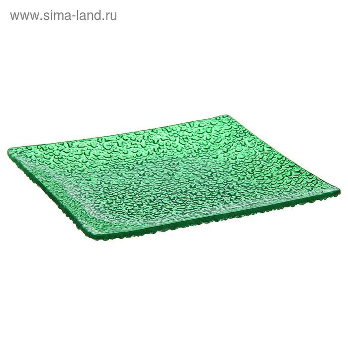 """Тарелка обеденная 20х2 см """"Акцент"""", цвет зеленый"""