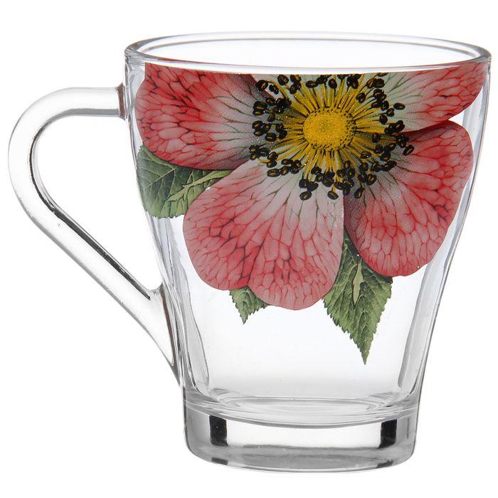"""Кружка чайная 250 мл """"Живая природа. Китайская роза"""""""