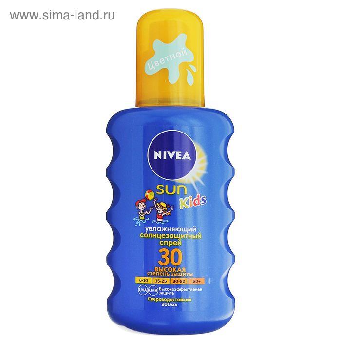 Солнцезащитный аэрозоль для детей Nivea SUN SPF 30, 200 мл