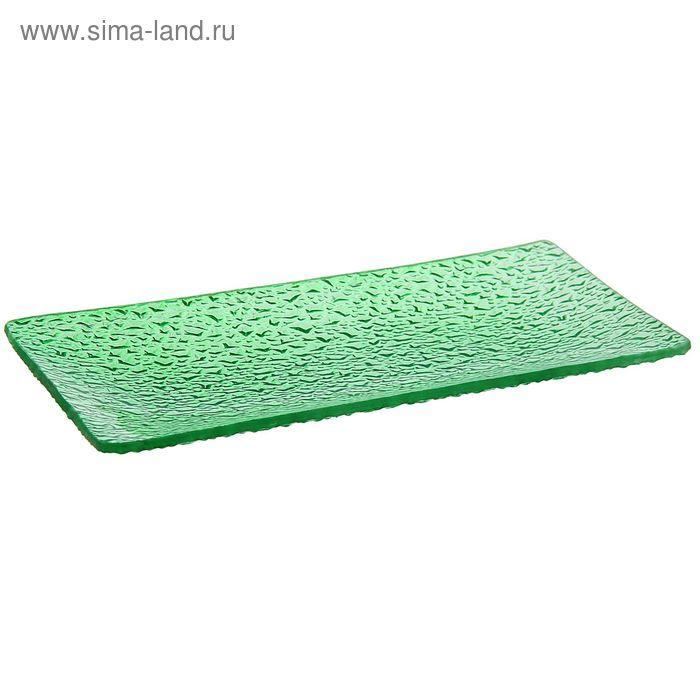 """Блюдо 17х11х2 см """"Акцент"""", цвет зеленый"""