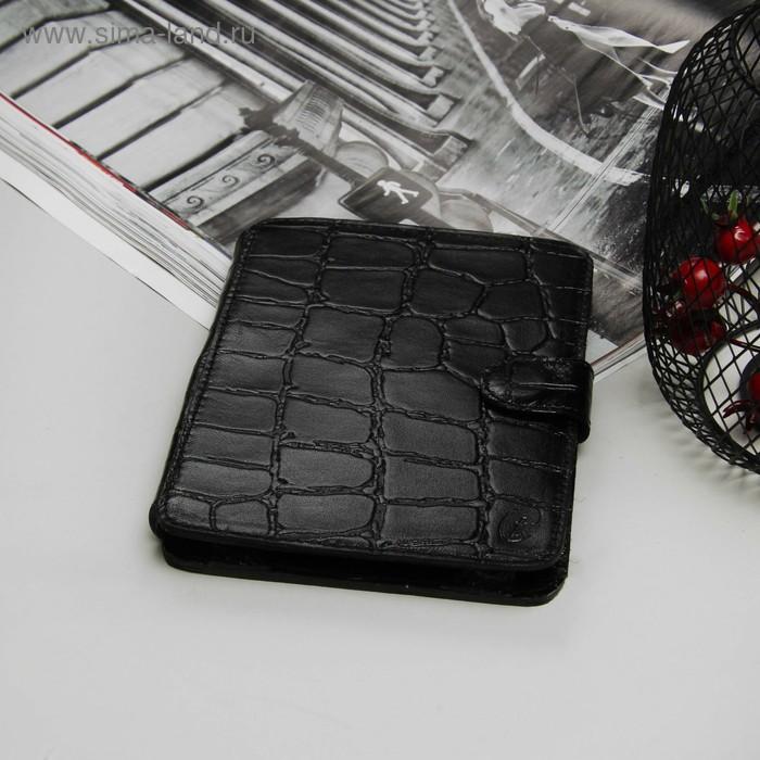 Чехол-книжка Time для планшета, универсальный, размер A, крокодил, цвет чёрный