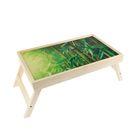 """Столик-поднос """"Бамбук"""",деревянная поверхность 50х30см"""