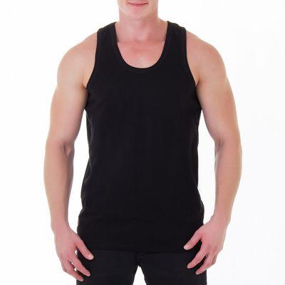 Майка мужская, размер 52, цвет чёрный