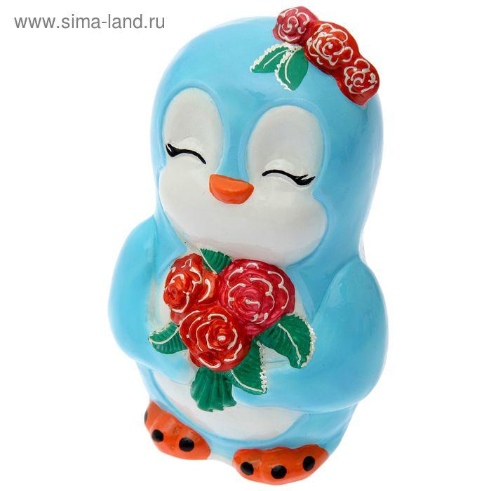 """Копилка """"Пингвинёнок Ника"""" глянец, голубая"""