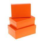 """Набор коробок 3в1 """"Оранжевый однотонный"""", 19 х 12 х 7,5 - 15 х 10 х 5 см"""