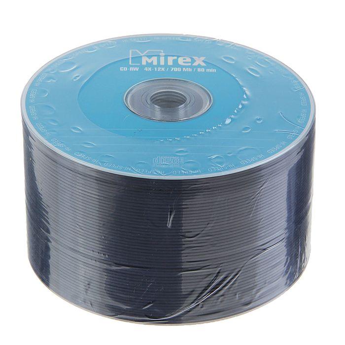 Диск CD-RW Mirex, 4-12x, 700 Мб, Спайка, 50 шт