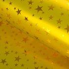 "Film holography ""Stars"", gold, 70 x 100 cm"